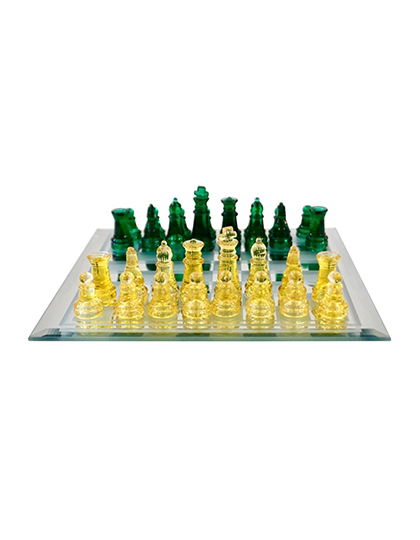 main_cosulich_interiors_and_antiques_products_new_york_design_contemporary_minimalist_green_yellow_murano_glass_chess_set_mirrored_board