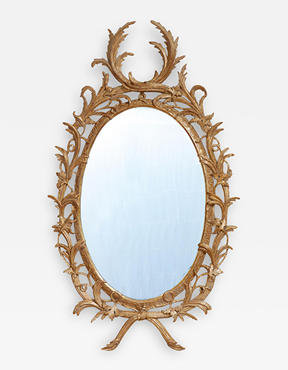 Exceptional George III Oval Mirror Main Image