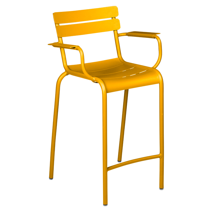 Fermob_Luxembourg High Armchair_Gallery Image 10_Honey