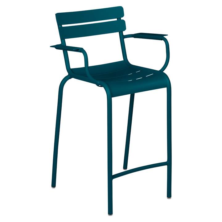 Fermob_Luxembourg High Armchair_Gallery Image 17_Acapulco Blue