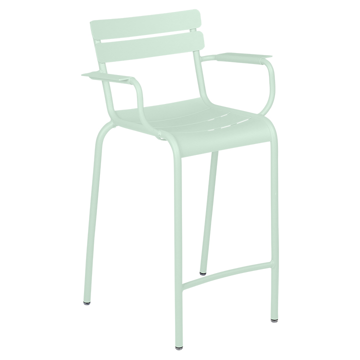 Fermob_Luxembourg High Armchair_Gallery Image 1_Ice Mint