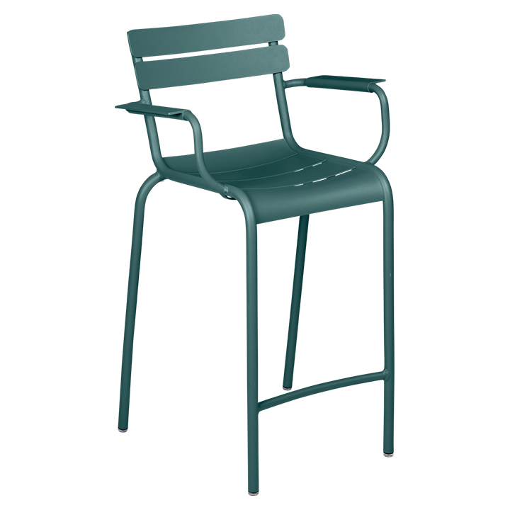 Fermob_Luxembourg High Armchair_Gallery Image 20_Storm Grey