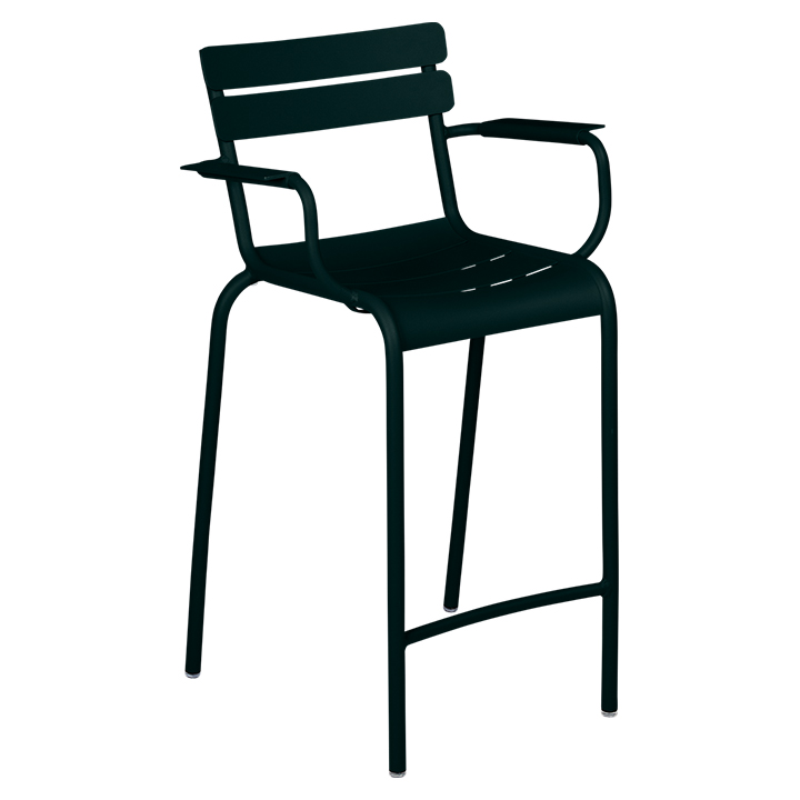 Fermob_Luxembourg High Armchair_Gallery Image 22_Liquorice