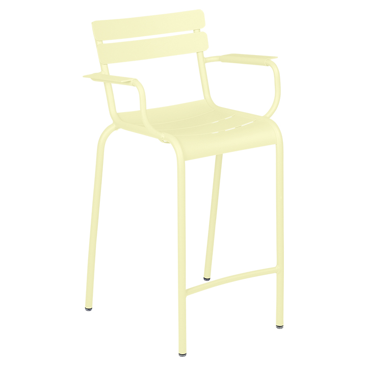 Fermob_Luxembourg High Armchair_Gallery Image 24_Frosted Lemon