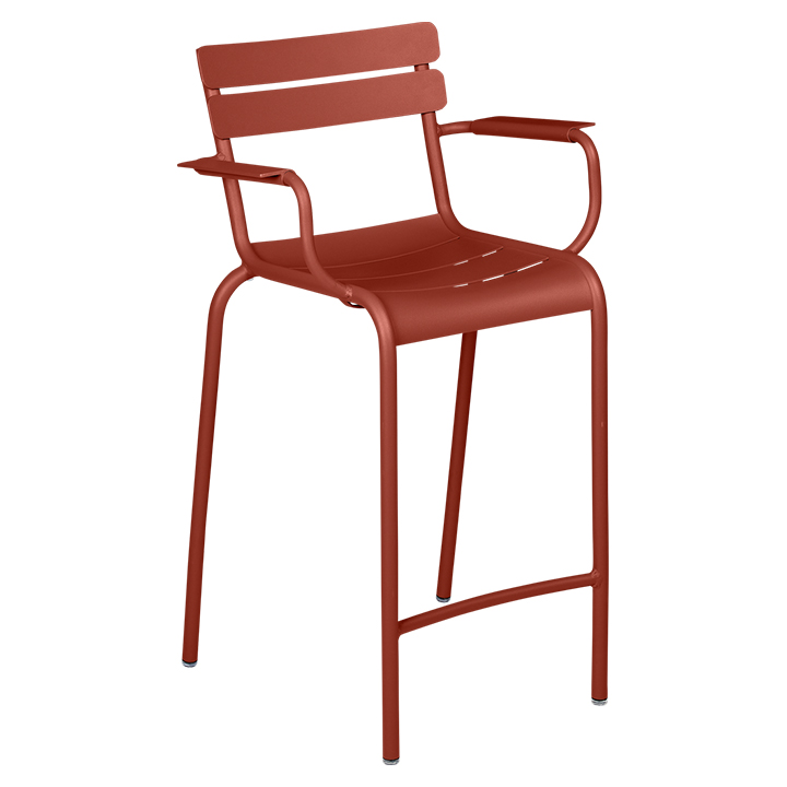 Fermob_Luxembourg High Armchair_Gallery Image 5_Red Ochre