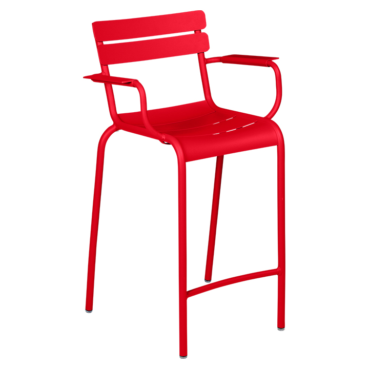 Fermob_Luxembourg High Armchair_Gallery Image 7_Poppy Red