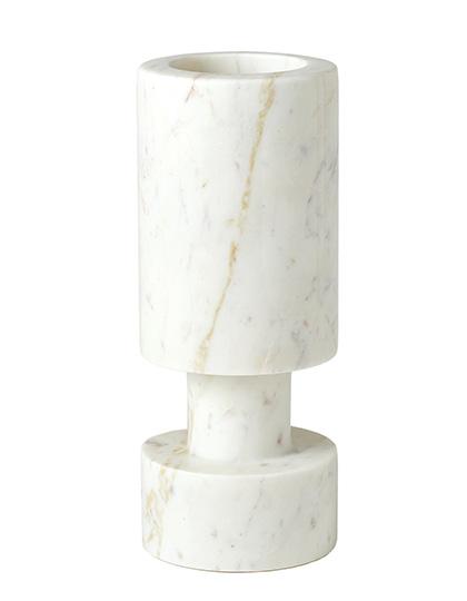 Luc Vase White Marble Main Image
