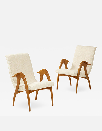 Pair of Sculptural Armchairs Main Image