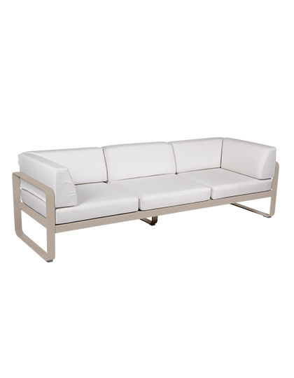 Bellevie Canape Club 3 Seater Off White_Main Image
